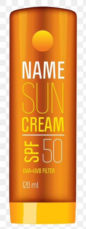 Sun Cream Tube Clipart Picture - Sunscreen Indoor Tanning Lotion Cream Clip Art PNG