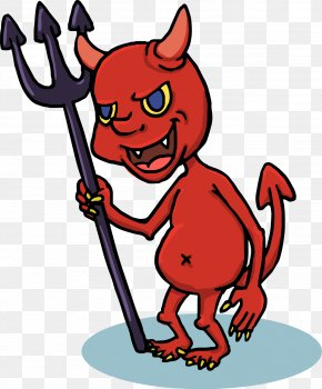 Funny Halloween Cartoon Red Devil PNG