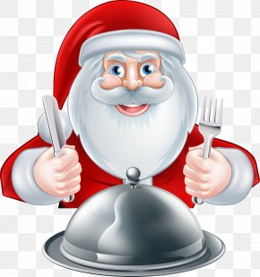 Vector Santa Claus - Santa Claus Knife Fork Illustration PNG