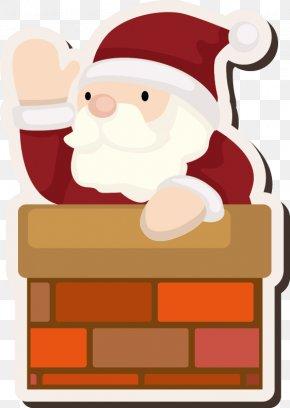 Santa Claus Vector Material Cartoon Art - Santa Claus Village Christmas Wedding Illustration PNG