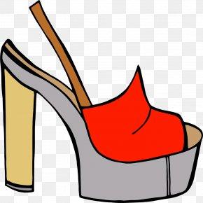 Vector Hand-painted Red Sandal - Slipper High-heeled Footwear Sandal Euclidean Vector Clip Art PNG