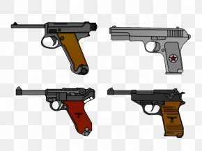 Handgun - Trigger Firearm Luger Pistol Nambu Pistol Walther P38 PNG