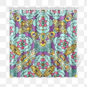 Yellow Curtain - Visual Arts Textile PNG