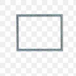 Blue Frame - Vehicle Registration Plate Pattern PNG