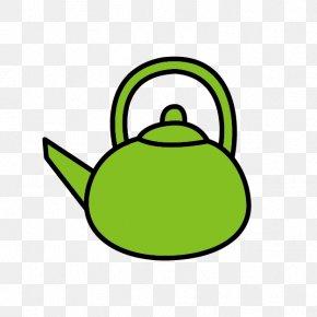 Lovely Green Tea - Green Tea Breakfast Kettle Clip Art PNG