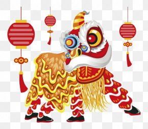 Cartoon Lion Dance - Lion Dance Chinese New Year Illustration PNG