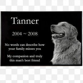 Dog - Headstone Dog Memorial Pet Commemorative Plaque PNG