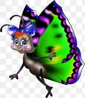 Cartoon Butterfly - Butterfly Drawing Cartoon Clip Art PNG