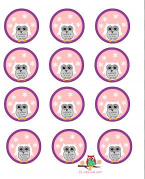 Cute Snowy Cliparts - Cupcake Owl Birthday Cake Clip Art PNG