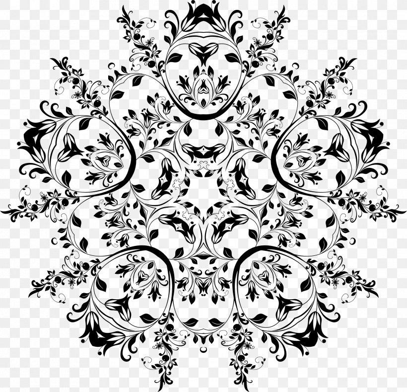 Flower Black And White Floral Design Clip Art, PNG, 2336x2248px, Flower, Area, Art, Artist, Black Download Free