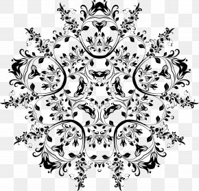 Floral Design - Flower Black And White Floral Design Clip Art PNG