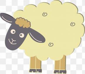 Sheep - Sheep Cattle Goat Drawing Cartoon PNG