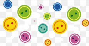Button Pattern Printing Material - Smiley Clothing Printing PNG