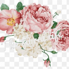 Artificial Flower Chinese Peony - Watercolor Pink Flowers PNG