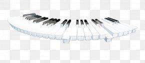 Cartoon Arc-shaped Black And White Keyboard Keys - Computer Keyboard Black And White PNG