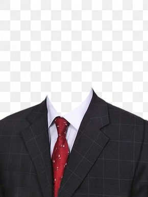 Checkered Suit And Red Tie - Suit Necktie PNG