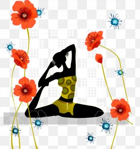 Yoga Beauty And Creative Flowers - Yoga Designer Computer File PNG