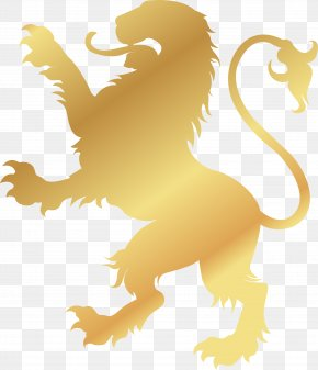Golden Noble Lion - Lion Logo Gold Symbol PNG