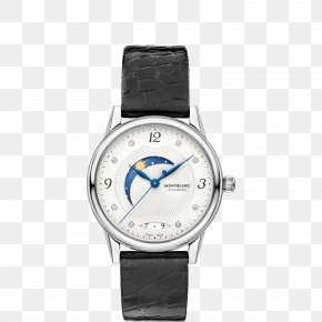 Montblanc Watches Women Watch Black Silver Watch - Montblanc Automatic Watch Movement Chronograph PNG