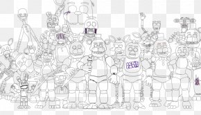 Five Nights At Freddy's 2 Black And White Five Nights At Freddy's 4 Drawing Sketch PNG