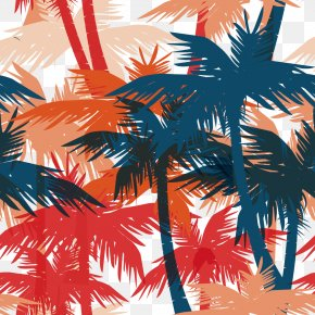 Vector Drawing Coconut Tree Pattern - Graphic Design Royalty-free Illustration PNG