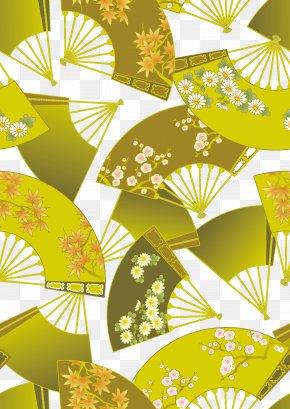 Vintage Japanese Folding Golden Background - Japan Gold Wallpaper PNG