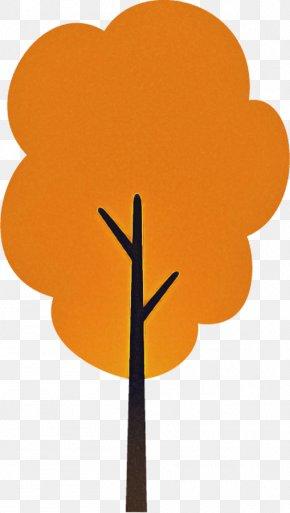 Flower Plant Stem - Orange PNG