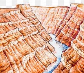 Illustration Of Red Rock - Rock Geology Geological Formation Illustration PNG