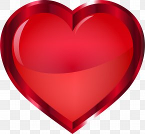 Heart - Heart Vermilion Red Crimson Clip Art PNG