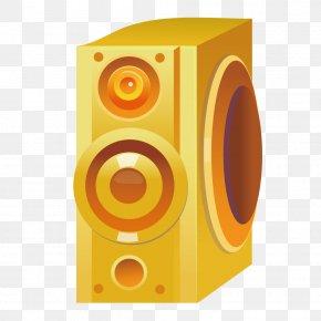 Gold Sound - Subwoofer Loudspeaker Sound PNG