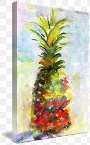 Watercolor Painting Fruit - Pineapple Cake Watercolor Painting Still Life Upside-down Cake PNG