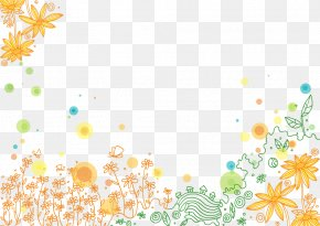 Painted Orange Flowers - Flower Orange Citrus × Sinensis Wallpaper PNG