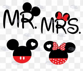 Mickey And Minnie Mouse Silhouette - Mickey Mouse Minnie Mouse T-shirt Mrs. Mr. PNG