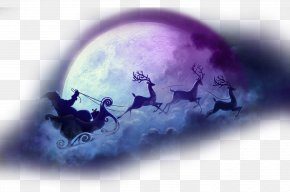 Christmas Christmas Moon Transparent Background Element Material - Santa Claus's Reindeer Christmas Eve NORAD Tracks Santa PNG