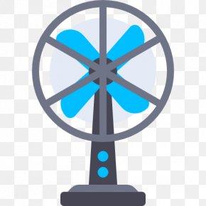 Blue Fan - Airflow Sound Noise LL Parser Voltage PNG