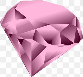 Pink Diamond Heart Clipart - Pink Diamond Clip Art PNG