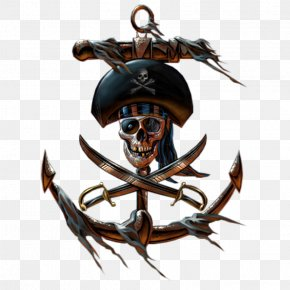 Pirate Material - Captain Hook Piracy Jolly Roger PNG