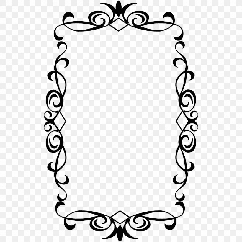 Picture Frame Clip Art, PNG, 900x900px, Picture Frames, Area, Black, Black And White, Decorative Arts Download Free