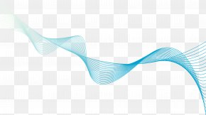 Blue Line - Turquoise Angle Pattern PNG