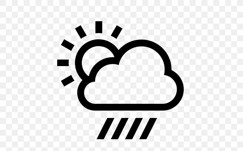 Weather Forecasting Rain Icon, PNG, 512x512px, Weather, Area, Black And White, Brand, Cloud Download Free