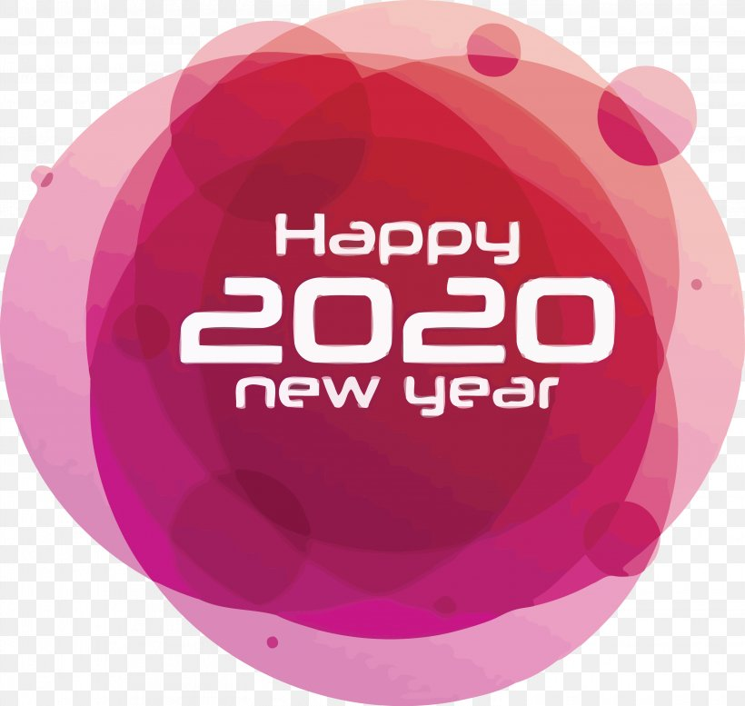 Happy New Year 2020 New Years 2020 2020, PNG, 3044x2887px, 2020, Happy New Year 2020, Logo, Magenta, Material Property Download Free