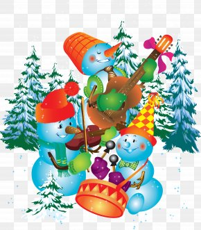 Snow Snowman - School Holiday Winter Recreation New Year PNG