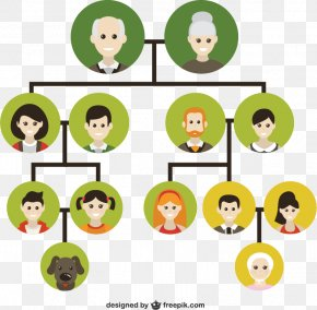 Family Tree Vector Illustration Material, - Family Tree Genealogy Icon PNG