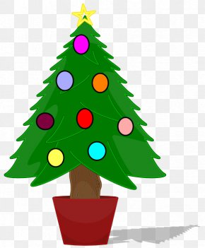 Christmas - Christmas Tree Santa Claus Clip Art PNG