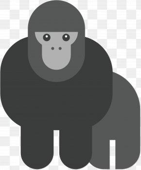 Scary Gorilla Vector - Gorilla Chimpanzee Orangutan Euclidean Vector PNG