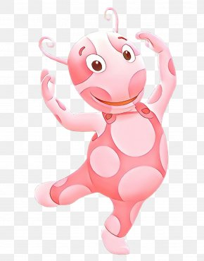 Fictional Character Stuffed Toy - Pink Cartoon Animation Clip Art Stuffed Toy PNG