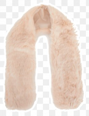 Fur Neck Scarf Stole Peach PNG