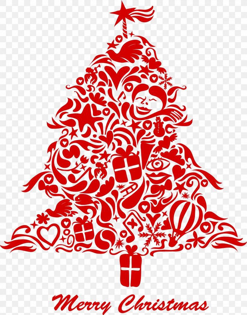vector christmas tree splicing png