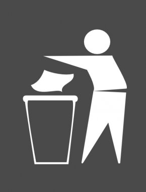 Trash Can Sign - Symbol Waste Container Sign Clip Art PNG