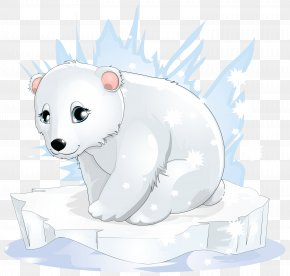 Transparent Polar Bear Clipart - Polar Bear Cartoon Clip Art PNG